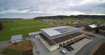 Luftaufnahme mit 4K-Kamera und Quadrokopter - Neubau Sporthalle
